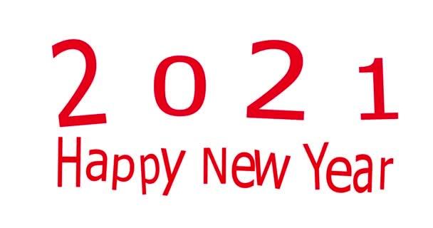 Nový rok2021. 2021 čísel v centru. Animace