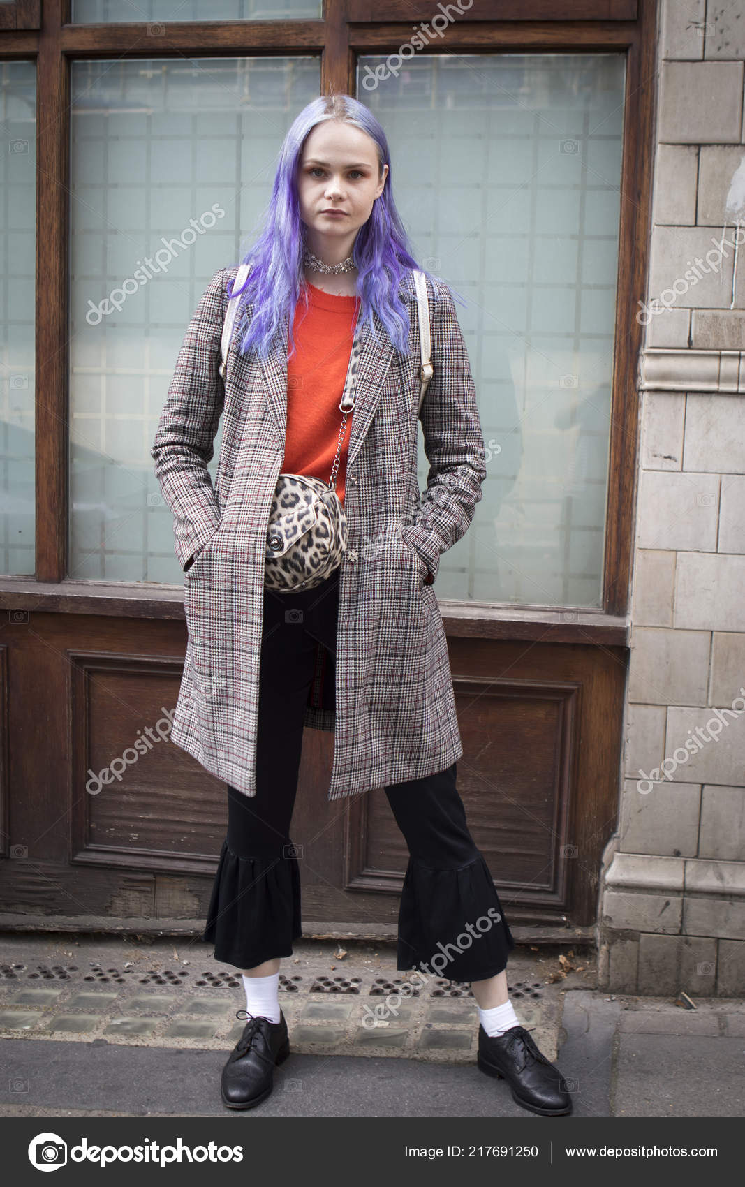 31d21026eb7 London United Kingdom September 2018 People Street London Fashion Week —  Stock Photo