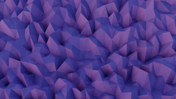 Low Poly Abstract Background Wallpaper Animation Purple Pink Slow Waves– stock footage