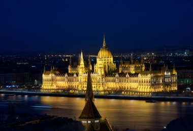 Hungarian parliament building in Budapest. Hungary