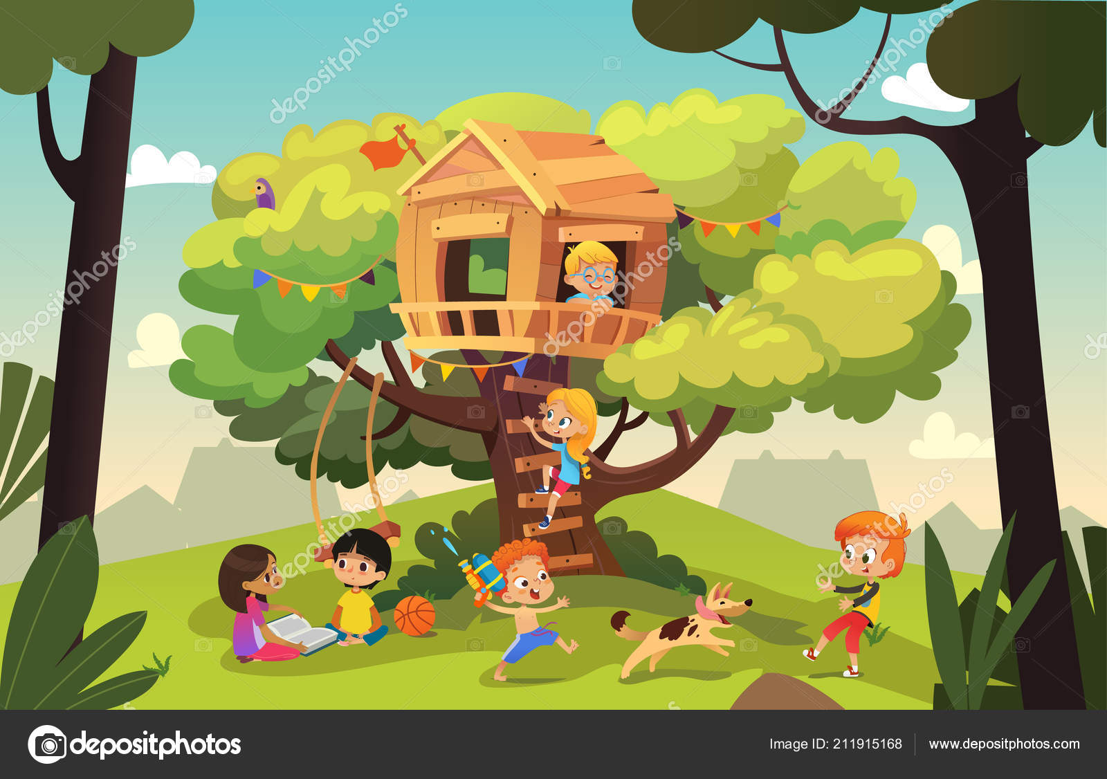 Áˆ Kid Tree House Stock Pictures Royalty Free Kids Treehouse Images Download On Depositphotos Tree house kids brings all of the adventure of the outdoors home to your kids! https depositphotos com 211915168 stock illustration happy multiracial boys and girls html