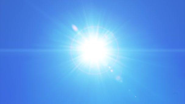 Sluneční světlo pohybu závoje na tlačítko Vymazat na reálné blue sky pozadí
