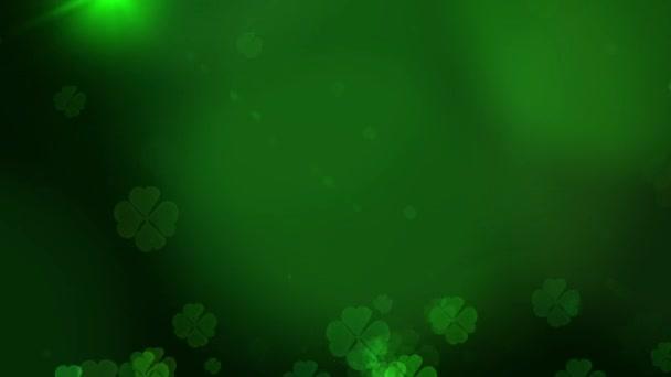 St. Patricks Day zelené listy Shamrock pozadí. Patrika pozadí s rostoucí jetel listu extrémní detail. Patrick den hospoda strany pozadí