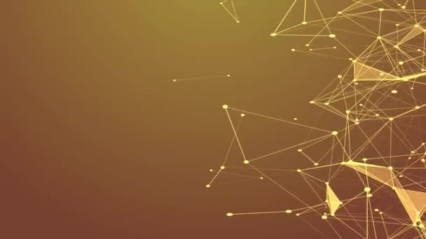 Abstract gold technology and science background futuristic network background