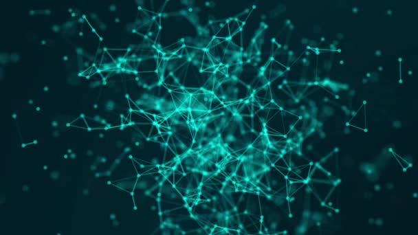 Abstraktní plexus technologie spojuje atomy a vědecký koncept pozadí futuristické sítě