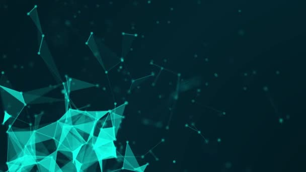 Abstract Blue plexus Technology network connects and atoms science concept background futuristic animation background