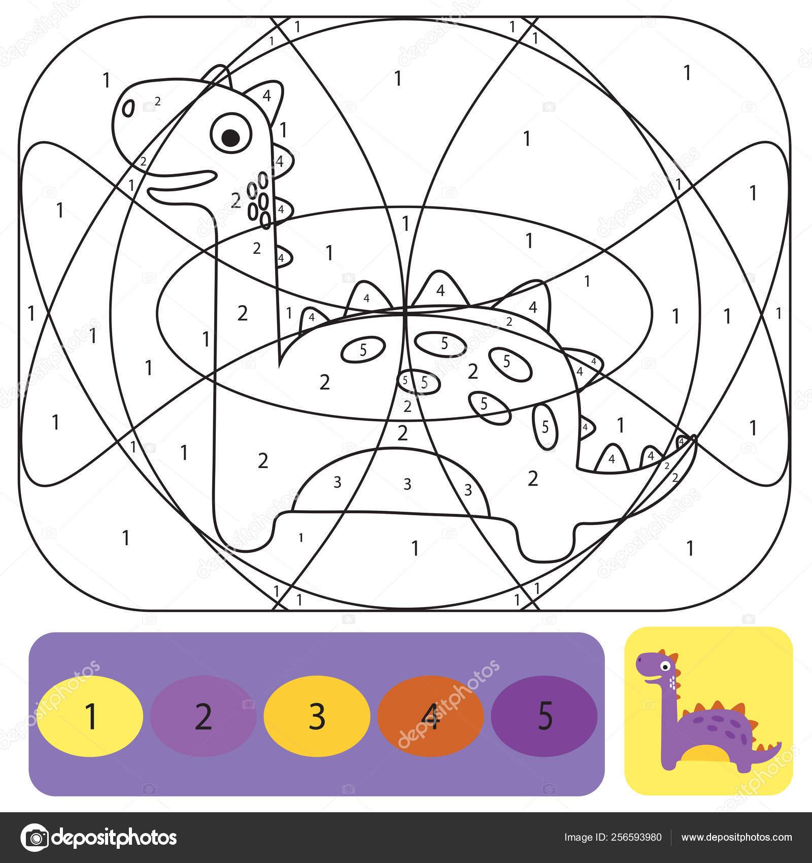 Carina Dino Pagina Da Colorare Per Bambini Puzzle Da Colorare Con I