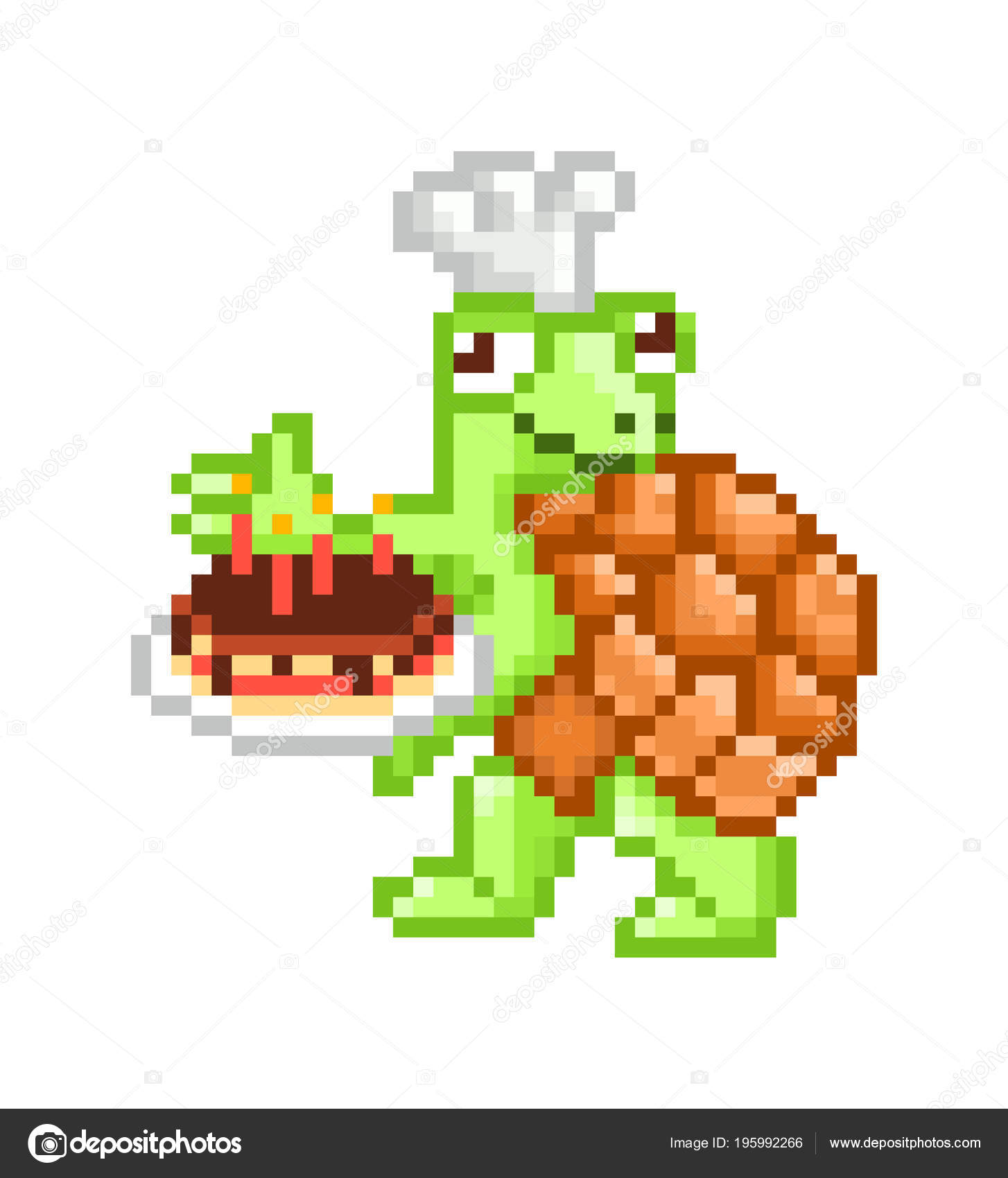 Turtle With Chef Hat Baker Turtle Chef Hat Presenting