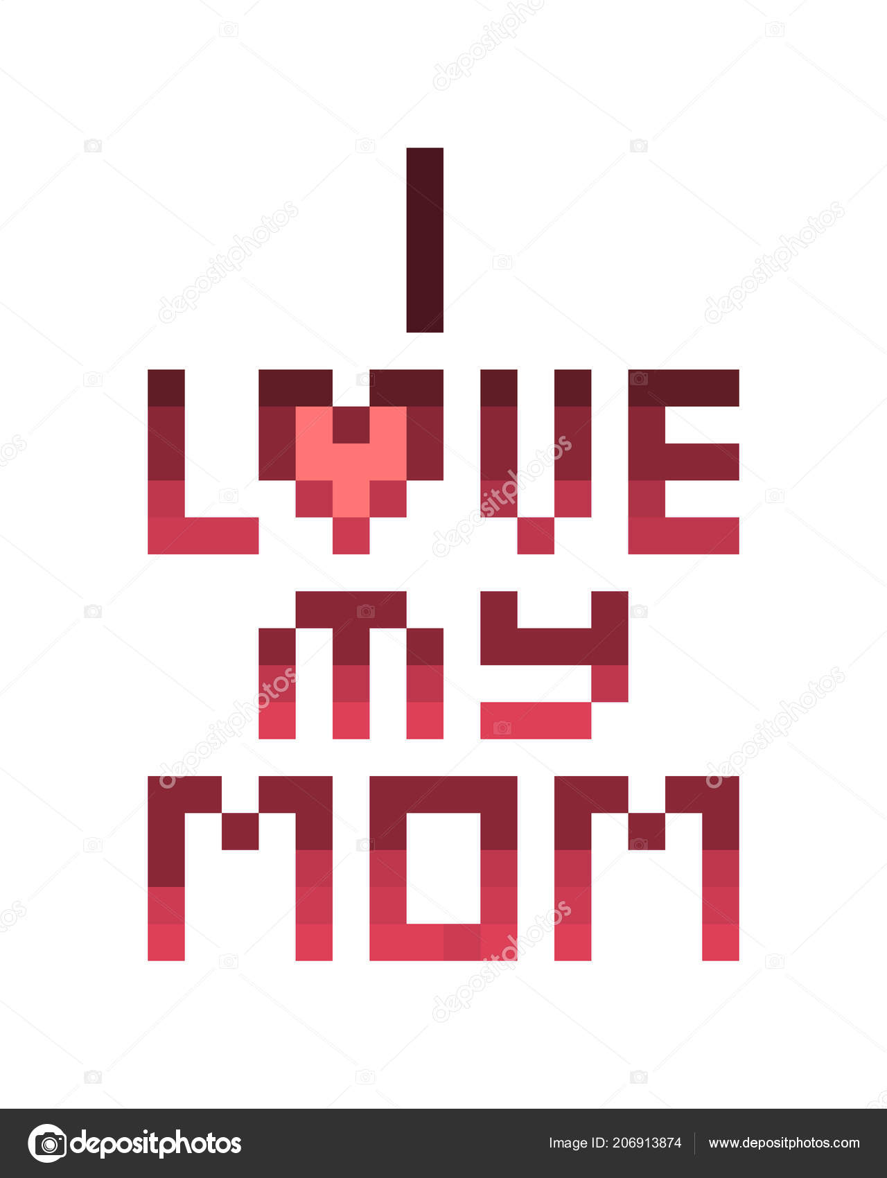 Love Mom Mother Day Birthday Celebration Card Nice Words Daughter
