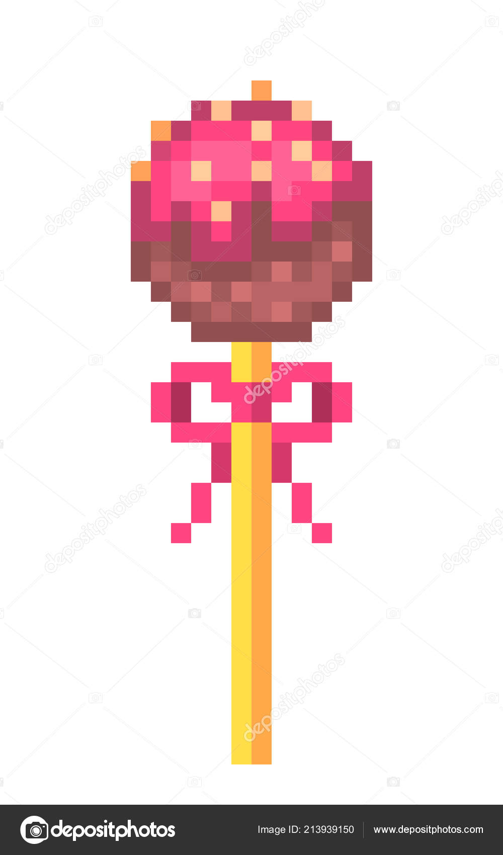 Pixel Art Cake Pop Chocolate Cake Pop Dripping Icing Nuts