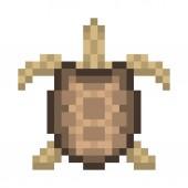 Fényképek Régi iskola pixel art kisállat teknős emblémát. Vad teknős, a fenti, 8 bites ikon elszigetelt fehér background. Állatkert hüllő jel/jel/jelkép. Retro videó, pc játék-karakteredet. Slot machine grafikus