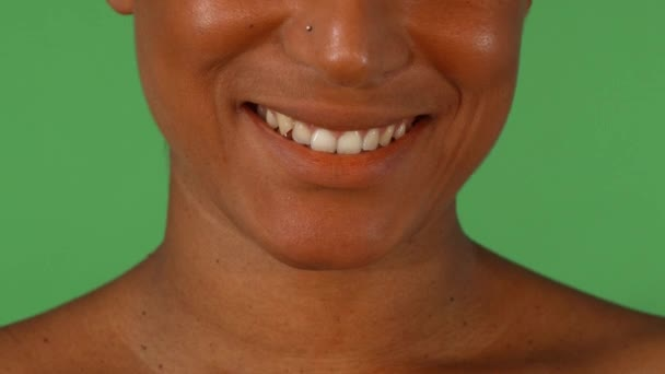 Studio portrait of a beautiful smile of African woman