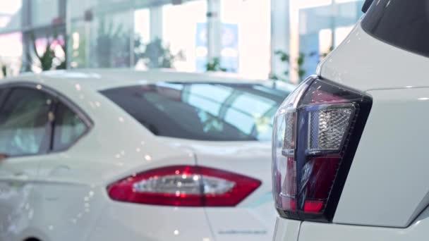 Žena vybrat nové auto u dealera, kopie prostor