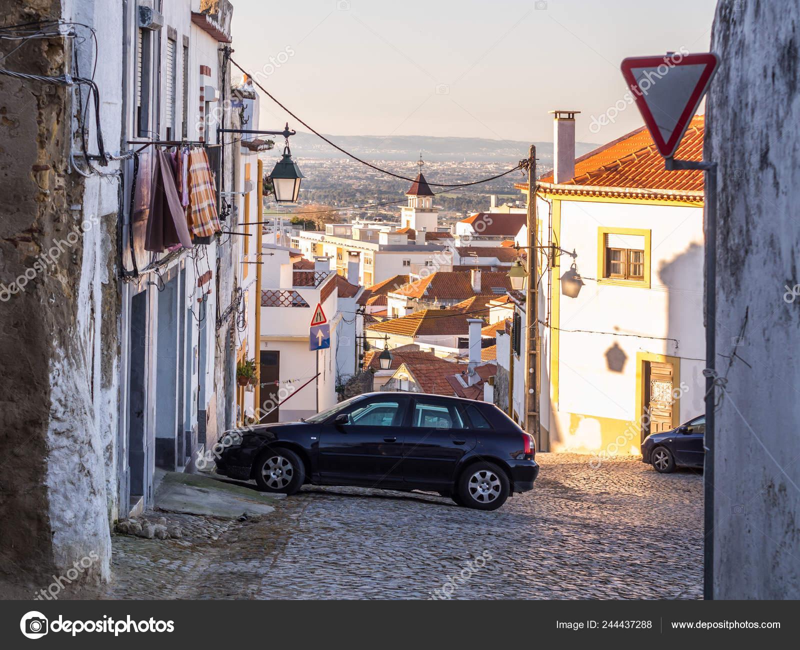Rua Cidade Velha Concelho Palmela Distrito Setúbal Sul Lisboa Portugal — Fotografia de Stock