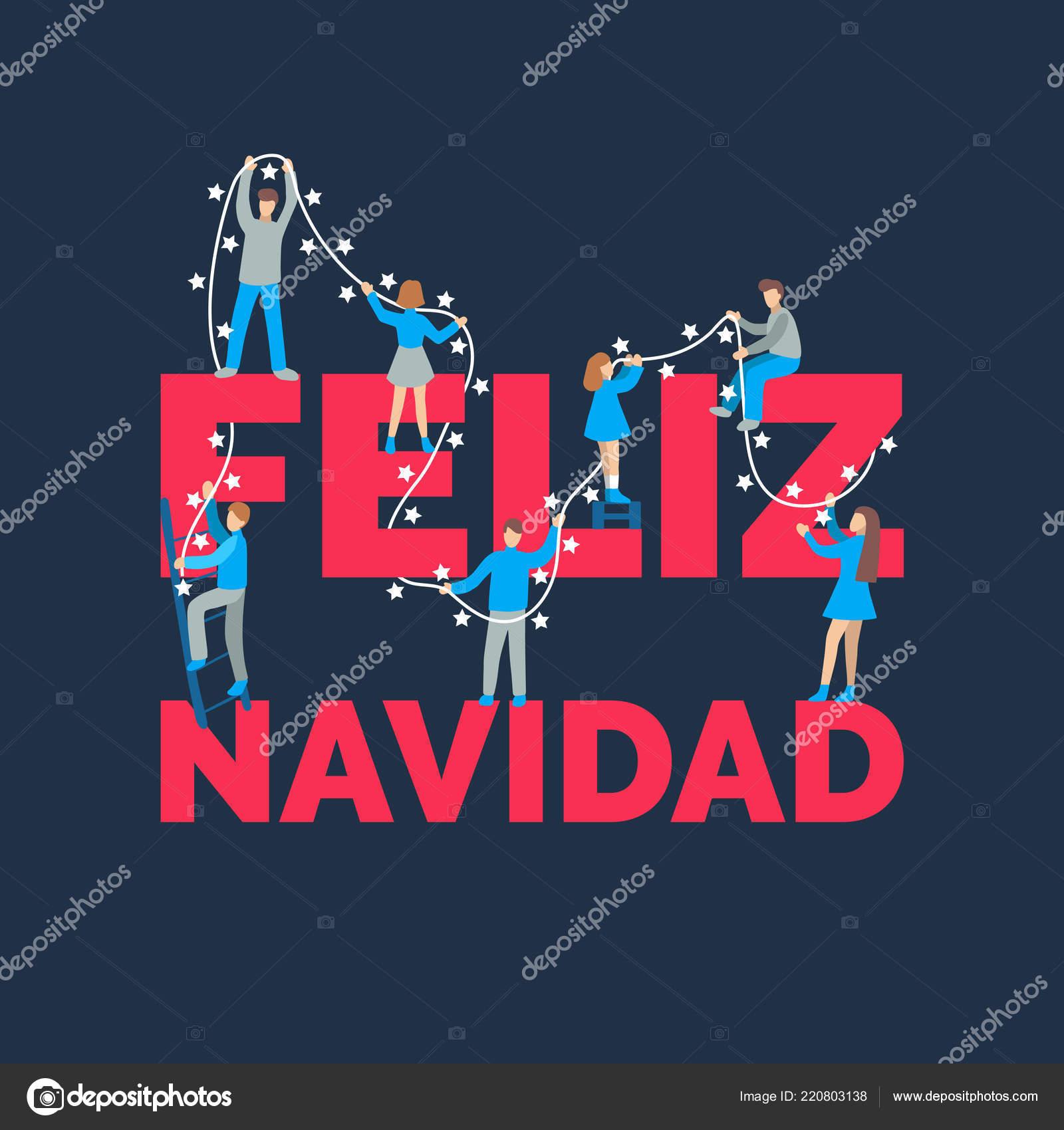 Feliz Navidad Frase Manuscrita Traducido Del Español Feliz