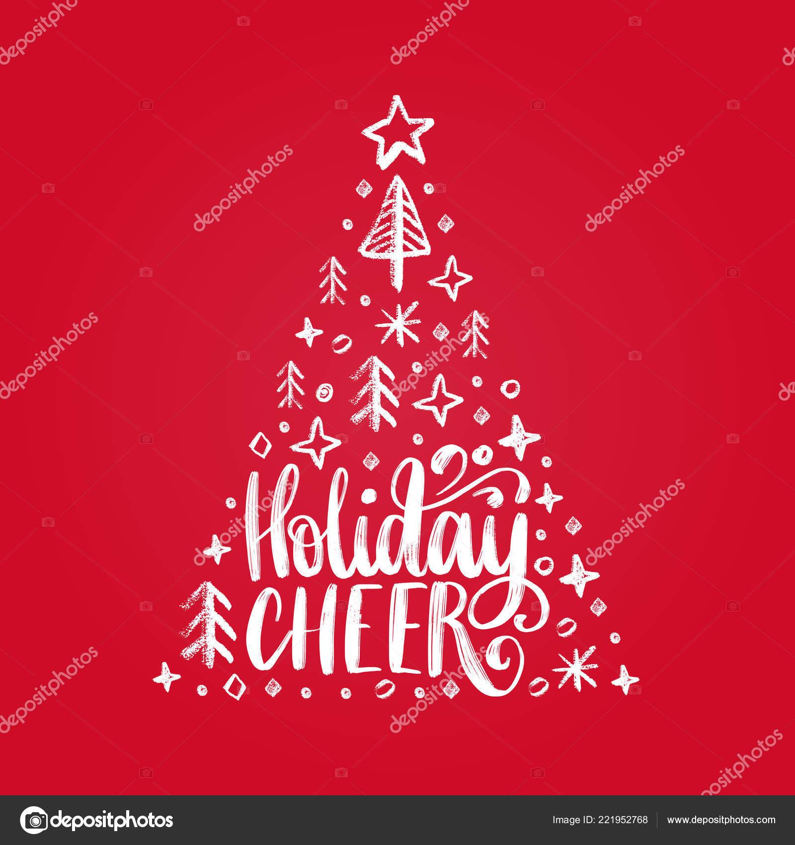 Vacanze Di Natale Frasi.Frase Scritta Vacanze Cheer Illustrazione Natale Abete Rosso