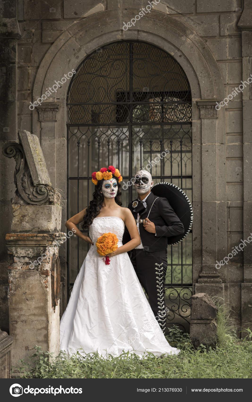 Vestidos Catrin Catrina Cementerio Con Boda Antiguo