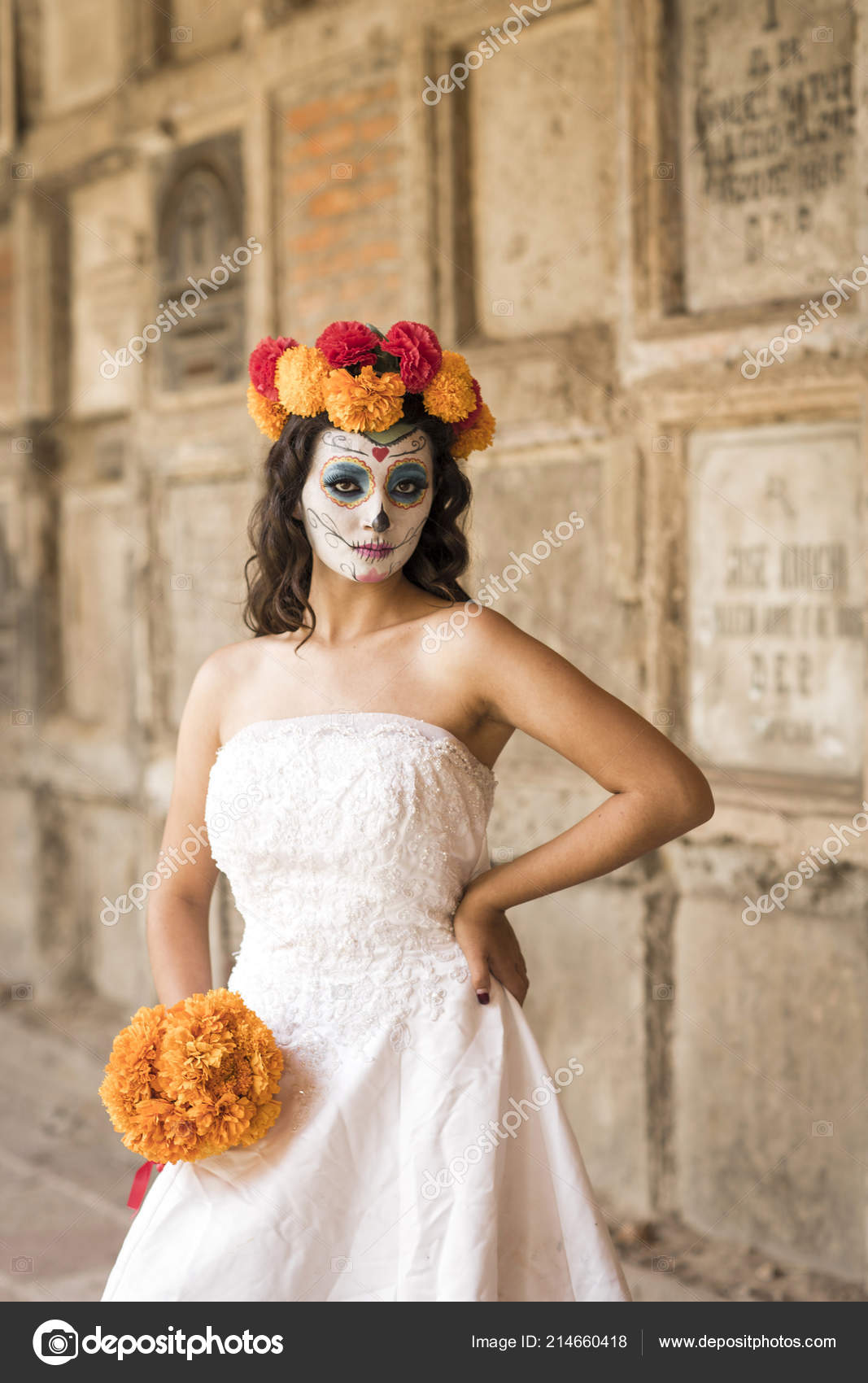 Vestidos Catrina Cementerio Con Boda Antiguo Cementerio