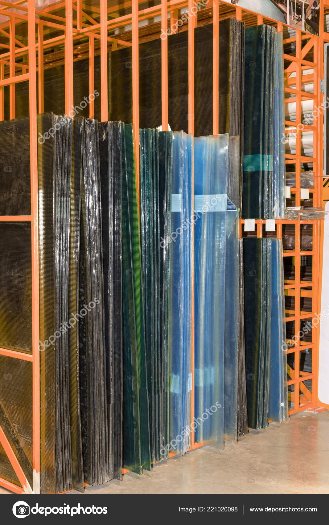 Rack Acrylic Sheets Construction Industry Home — Stock Photo