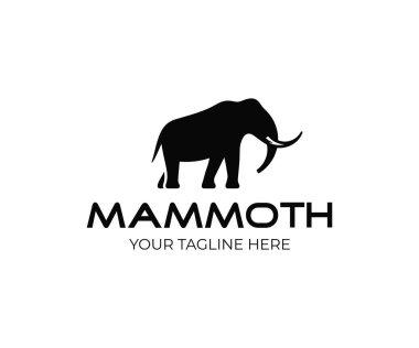 Mammoth logo design. Ancient animal vector design. Extinct animal logotype