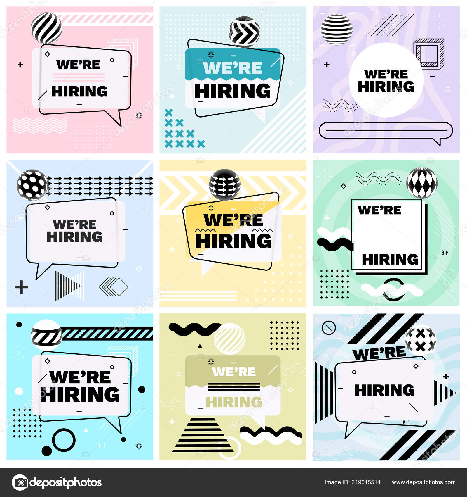 Pleasing Hiring Template Banner Design Poster Set Job Vacancy Home Interior And Landscaping Ologienasavecom