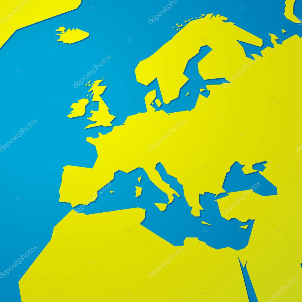 Simple Green Blank Map Europe Stock Vector C Mimacz 198685462