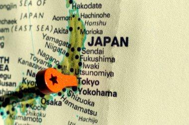 marker on the map near Tokio