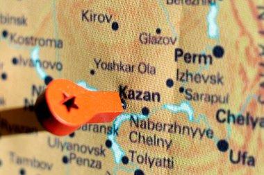 marker on the map near Kazan
