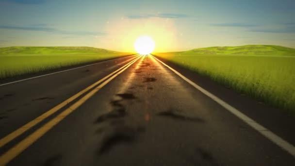 Řízení sunset road smyčka
