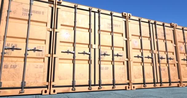 Row of cargo shipping containers