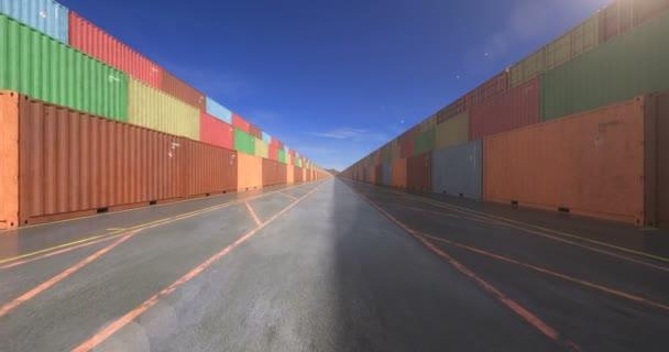 Nekonečné hromádky nákladních přepravních kontejnerů