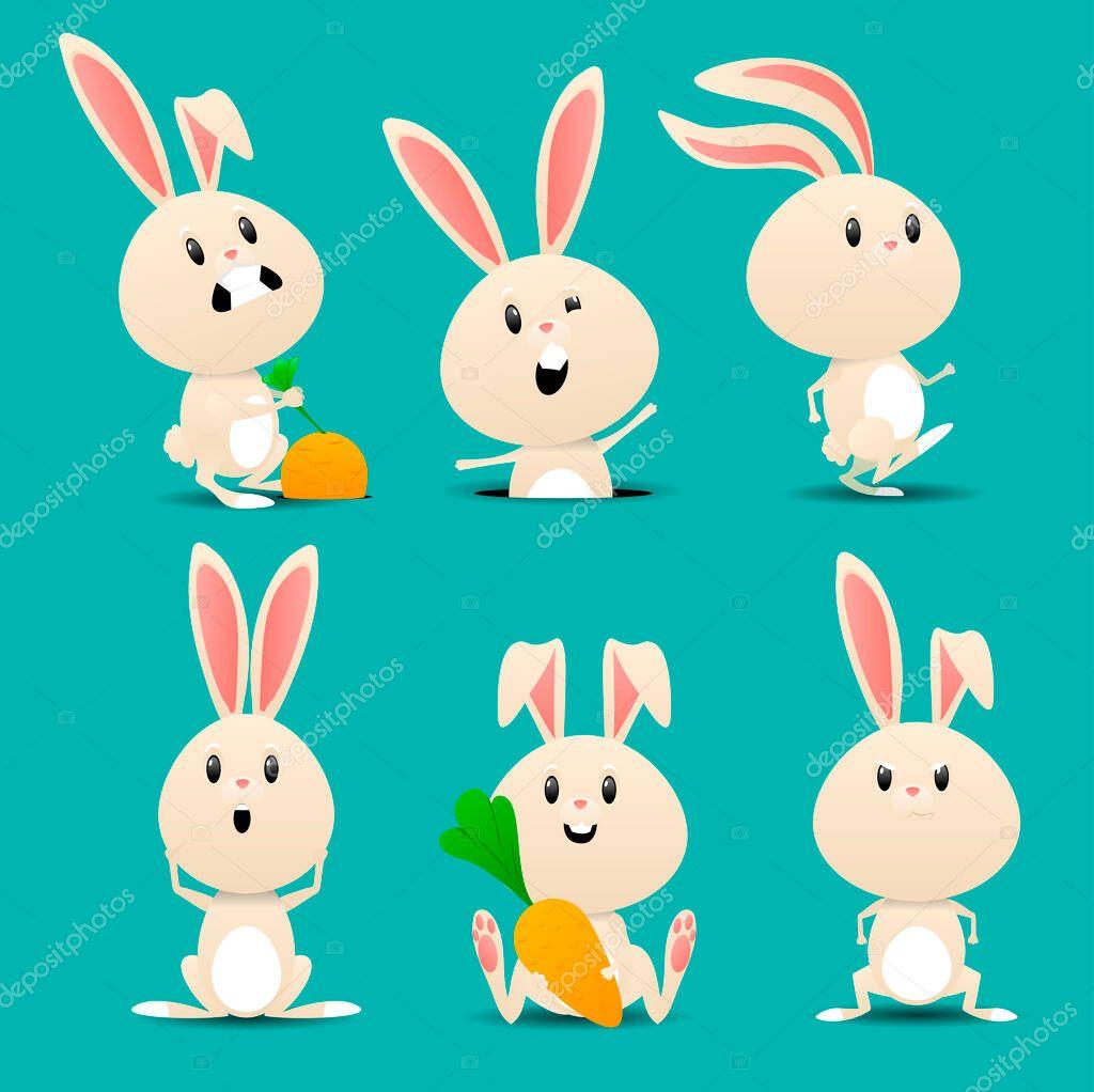 Cartoon Bunny Rabbits Pets Easter Bunnies And Plush Little Spring Rabbit Pet Isolated Set Vector Illustration Premium Vector In Adobe Illustrator Ai Ai Format Encapsulated Postscript Eps Eps Format