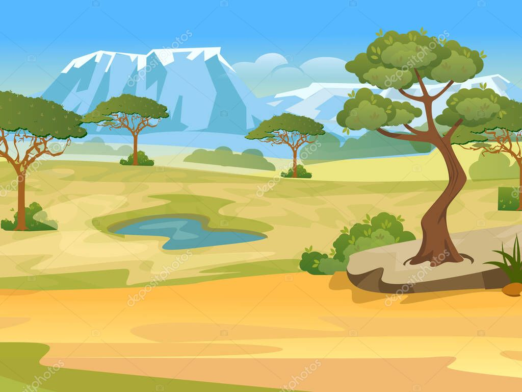 Cartoon African Landscape Nature Of Africa Safari Noon In Savannah Camping Trip Vector Illustration Premium Vector In Adobe Illustrator Ai Ai Format Encapsulated Postscript Eps Eps Format Here you can explore hq cartoon tree transparent illustrations, icons and clipart with filter setting like size, type, color etc. cartoon african landscape nature of