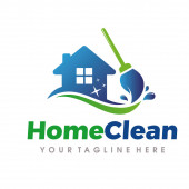 Home Cleaning Logo, Cleaning Services Logo