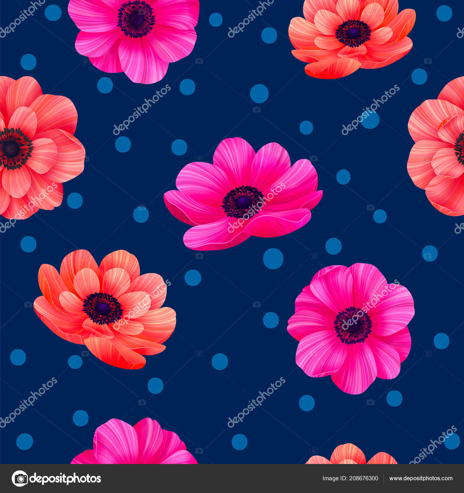 Polka Dot Screensavers Luminous Tropical Seamless Pattern