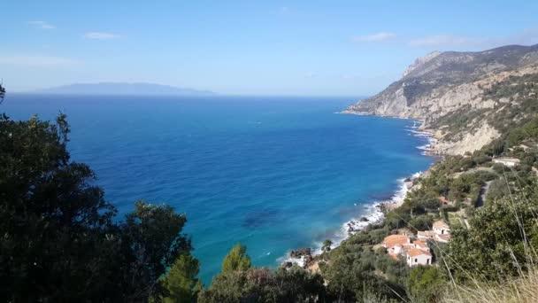 Häuser entlang der Küste von Monte Argentario eine Halbinsel in der Toskana Italien
