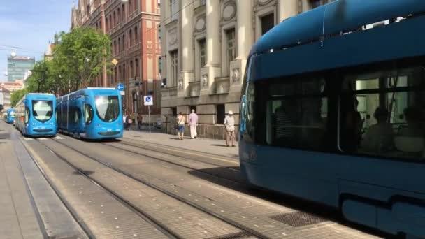 Tramvaje kolem centra Záhřebu Chorvatsko