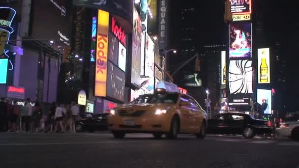 Police car at Times Square in the evening, New York City