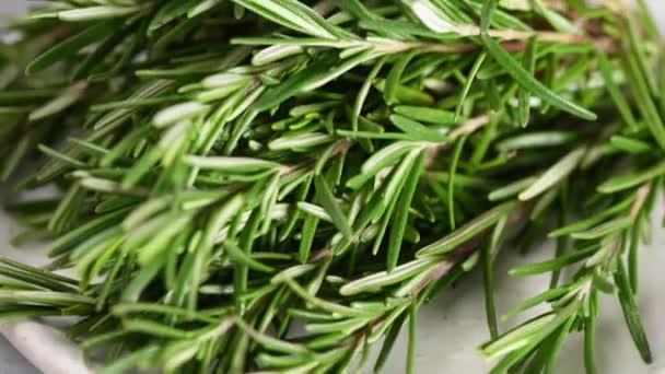 Čerstvý rozmarýn bylinky detailní pohled záběry
