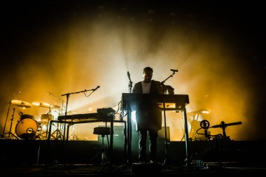 Chet Faker performing on stage during music festival