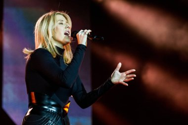 Ellie Goulding performing on stage during  music festival