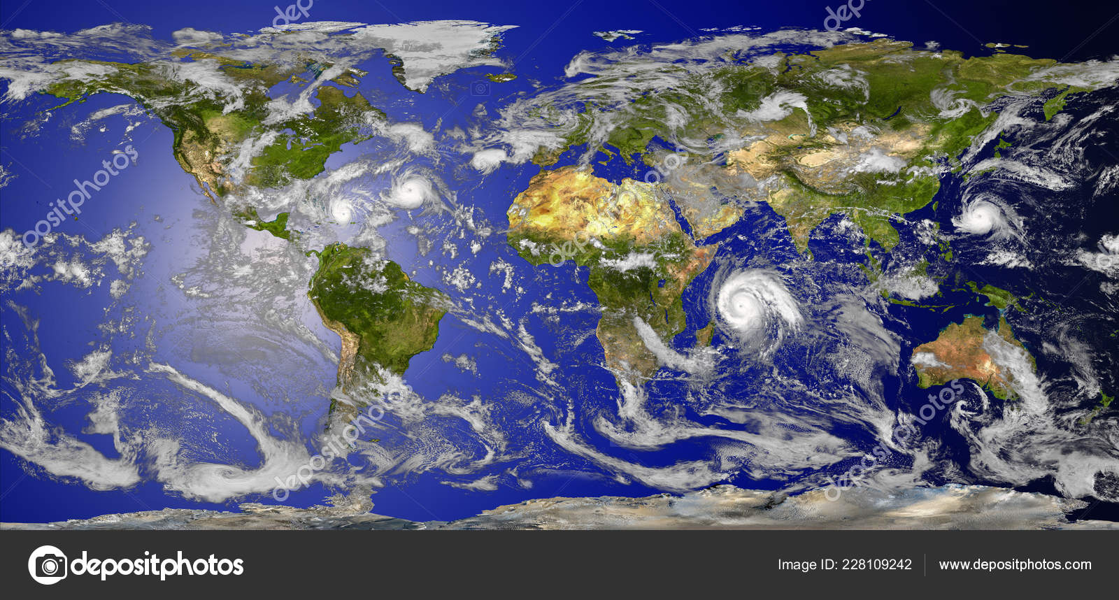 Hurricanes World Map.World Map Clouds Tropical Hurricanes Elements Image Furnished Nasa