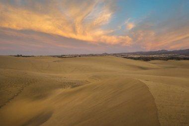 "Картина, постер, плакат, фотообои ""Пустыня на Гран-Канария, dunas de maspalomas"", артикул 250652994"