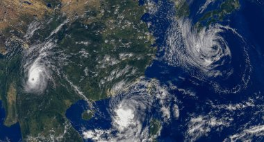 tropical hurricanes  .Elements of this image furnished by NASA-