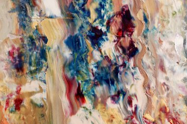 Colorful abstract background wallpaper. Modern motif visual art.  Mixtures of oil paint. Trendy hand painting canvas. Wall decor and Wall art prints Idea.  3D Texture.