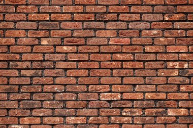Red brick wall, texture background.