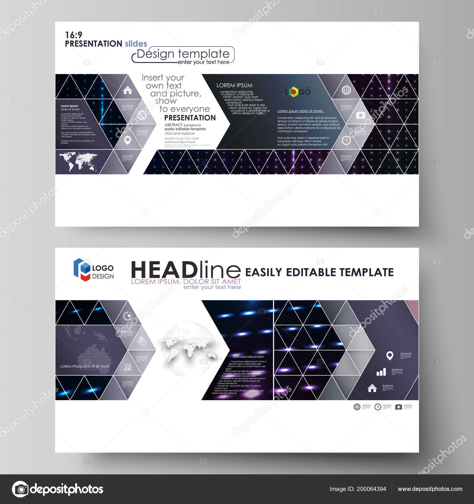 Business templates in HD format for presentation slides Layouts in