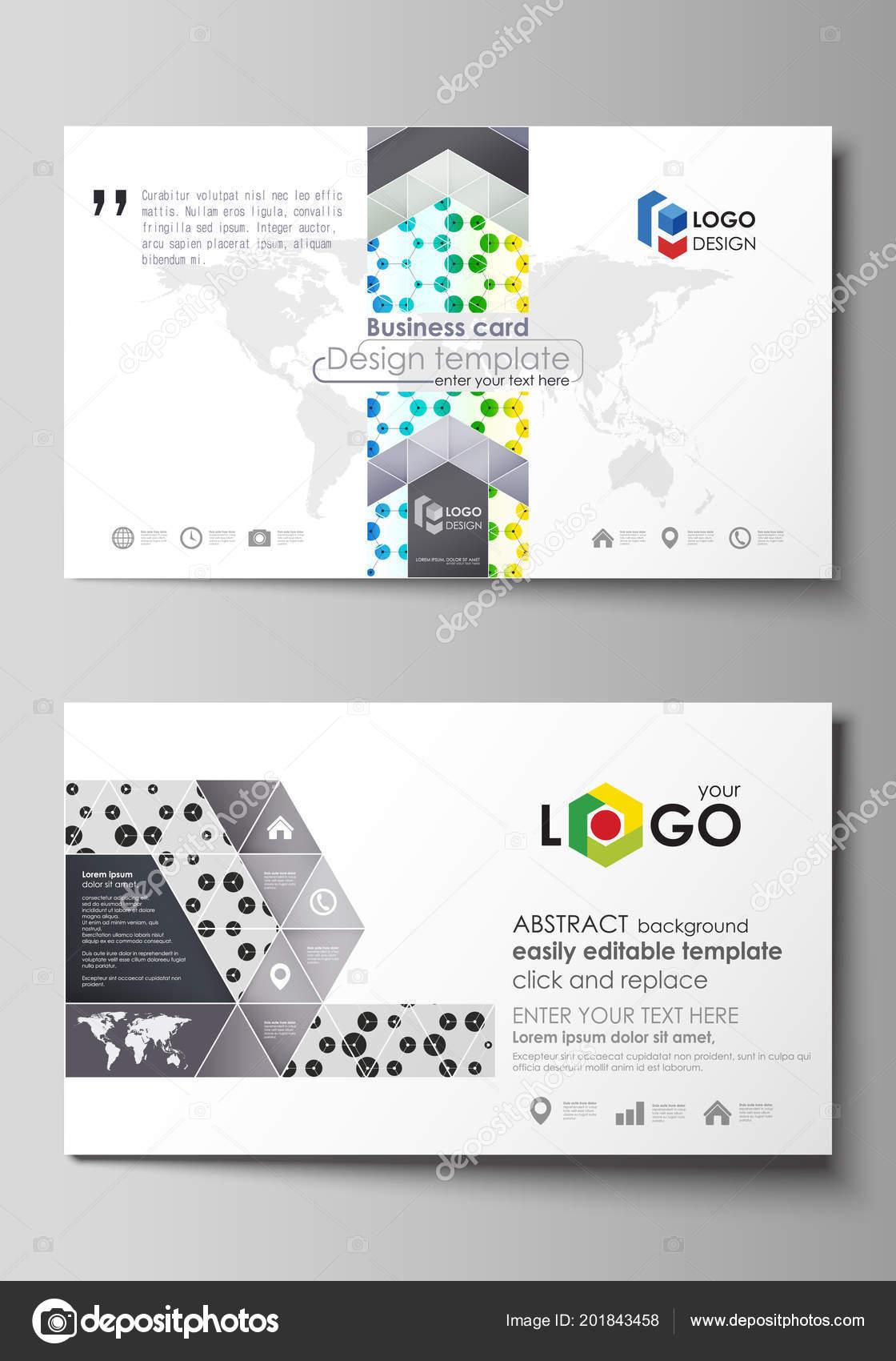 Visitenkarten Vorlagen Abstrakte Vorlage Vektor Layout