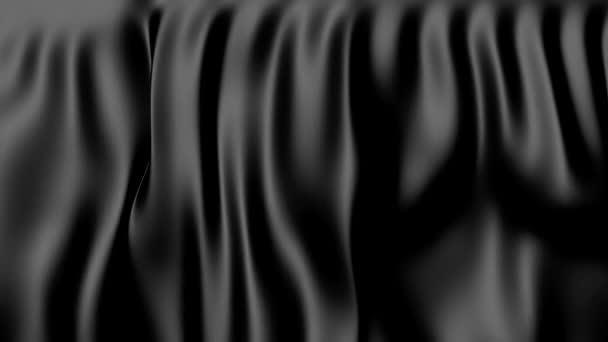 Černá Pohyblivý závěs. Abstraktní látky v pohybu.