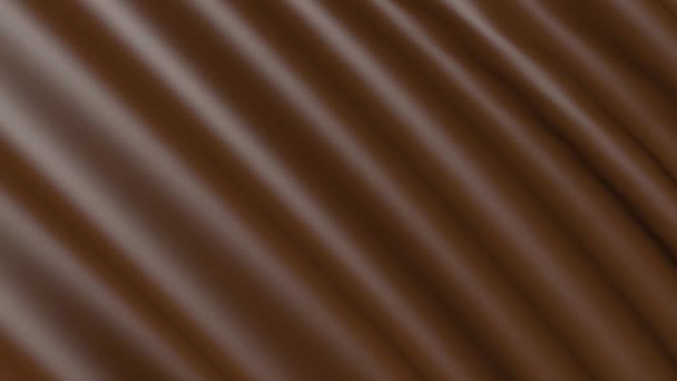 The movement of chocolate material is folded. The background fabric in motion.